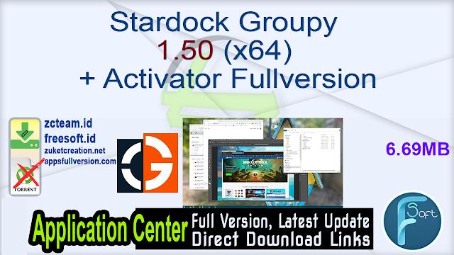 Stardock Groupy 1.50 (x64) + Activator Fullversion