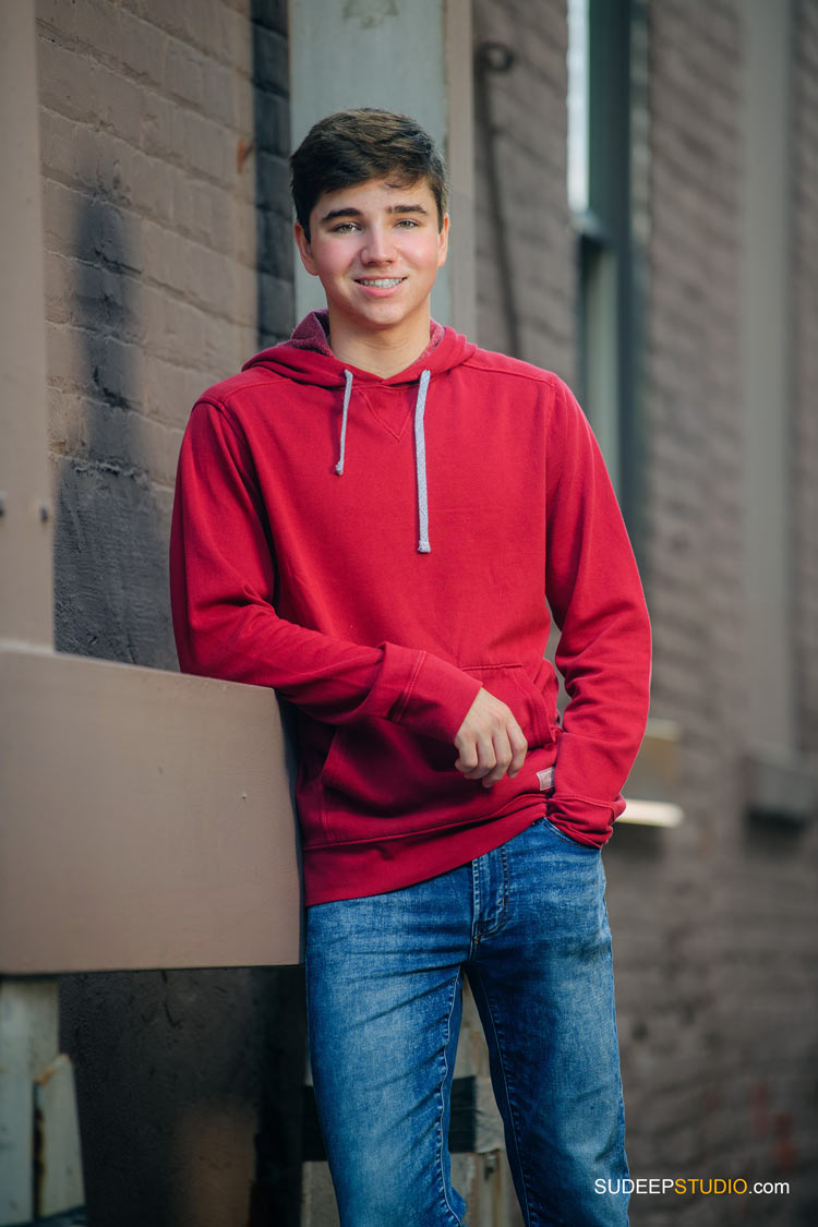 Best Urban Senior Picture Pose by SudeepStudio.com Ann Arbor Senior Pictures Photographer