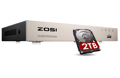 ZOSI ZR08FN/20 H.265+ 8CHRecorders Security System