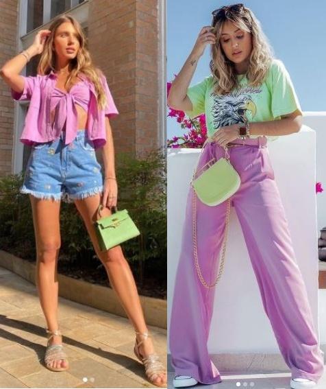 Combinações de cores para looks estilosos, Laura Dellagnese, Micheli Fernandes