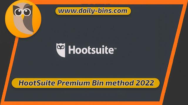 HootSuite Premium Bin method 2022