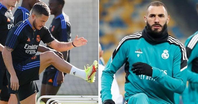 Ahead of El Clasico Benzema misses Real Madrid group training but Hazard return