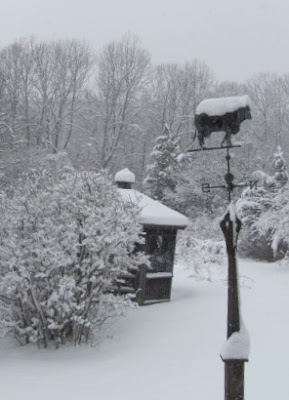 Winter in the Hudson River Valley – the view outside my studio door