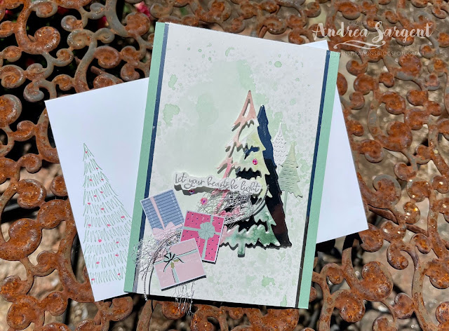 """""""May your heart be light"""" is a lovely blessing that is delivered through this specially created card for Christmas by Andrea Sargent, Australia."""