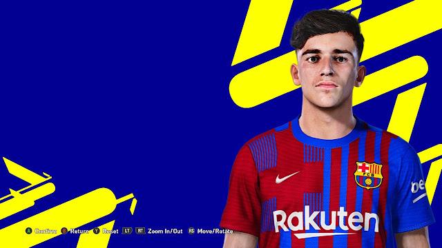 Pablo Gavi Face For eFootball PES 2021 V2