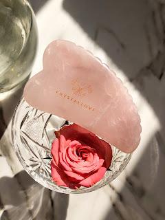 Crystallove 3D Rose Quartz Gua Sha Plate