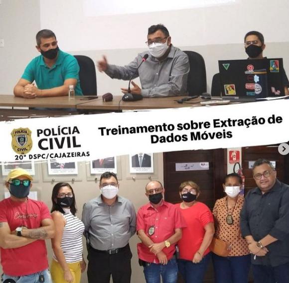 20ª Delegacia de Polícia Civil de Cajazeiras realiza treinamento sobre Extração de Dados Móveis