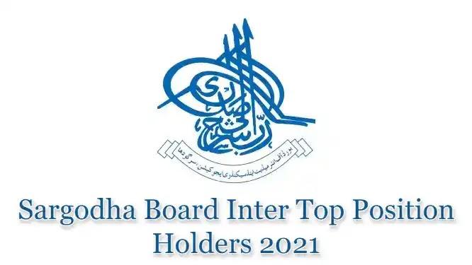 BISE Sargodha Board HSSC Inter FSc FA Top Position Holders 2021