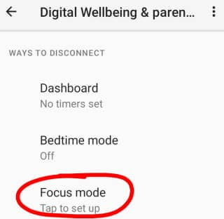 Focus Mode kya hota hai | फोकस मोड कैसे यूज करें?