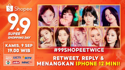 Promo Give Away Iphone 12 Mini di Shopee 9.9 Super Shopping Day