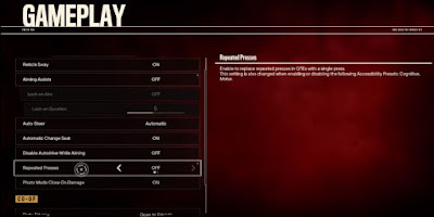 Far Cry 6, Gameplay Settings, Repeated Presses