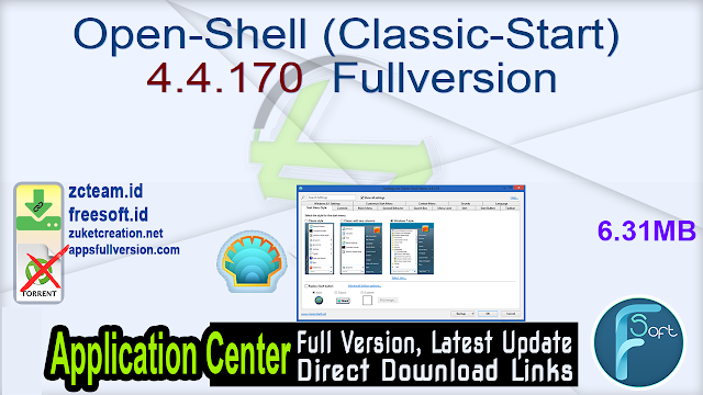 Open-Shell (Classic-Start) 4.4.170  Fullversion