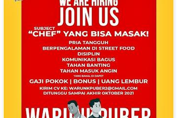Loker Bandung Chef Warunk Puber