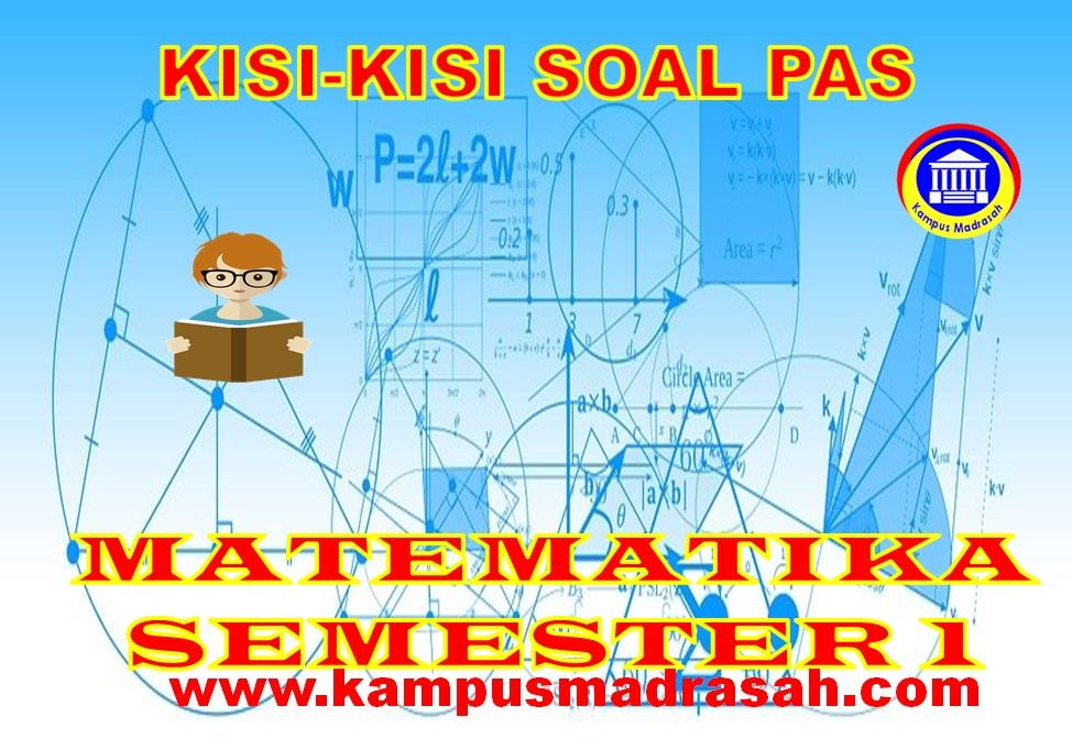 Kisi-kisi Soal PAS Matematika