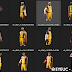 NBA 2K22 Los Angeles Lakers Madia Day Full Body Portraits Pack by AI3