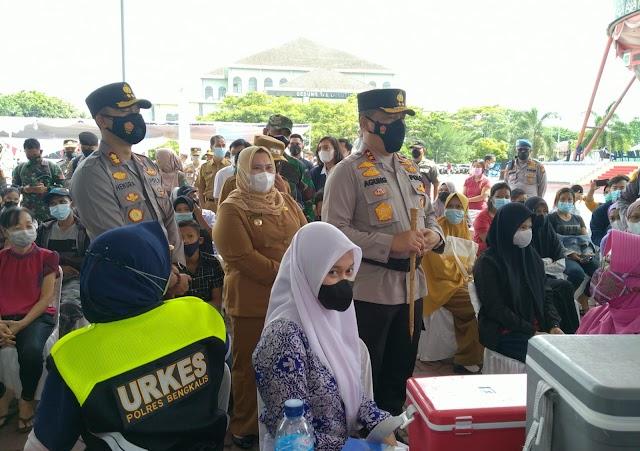 Tinjau Pelaksanaan Vaksinasi, Kapolda Riau: Bengkalis Targetkan Capai 70 Persen