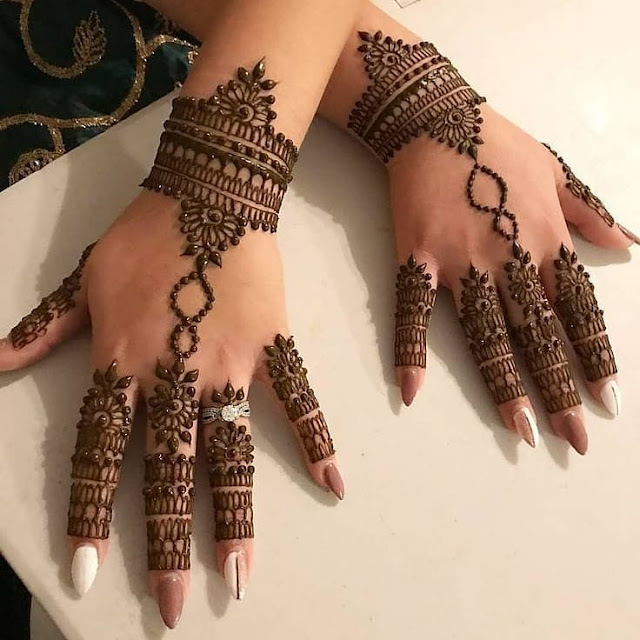 back hand mehndi designs for karwa chauth
