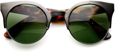 Designer Tortoise Shell Vintage Cat Eye Sunglasses for Women