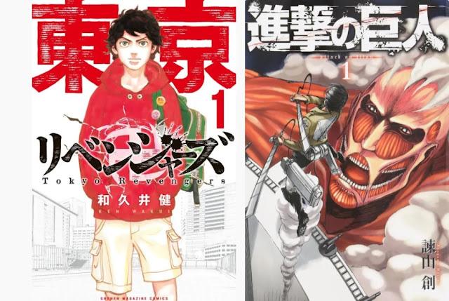 Mangá de 'Tokyo Revengers' supera Recorde de' Shingeki no Kyojin' em Vendas Anuais