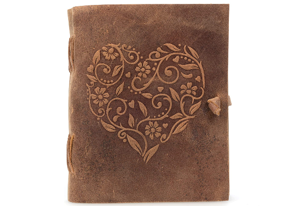 vintage handcrafted leather journal