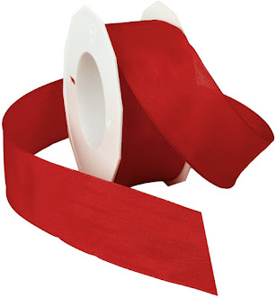 Red Taffeta Ribbons For Craft or Decor Projects