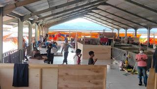 Patroli Dialogis di Pasar Sudu, Kapolsek Alla Sampaikan Himbauan Kamtibmas Dan Protokol Kesehatan