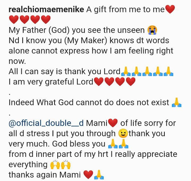 What God cannot do does not exist- Actress Chioma Emenike says as she acquires a brand new Lexus SUV Car (Photos)