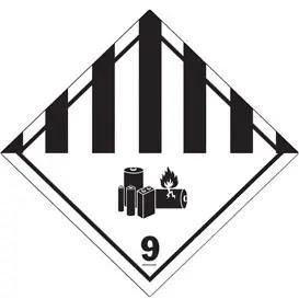 Lithium Batteries Hazard Label