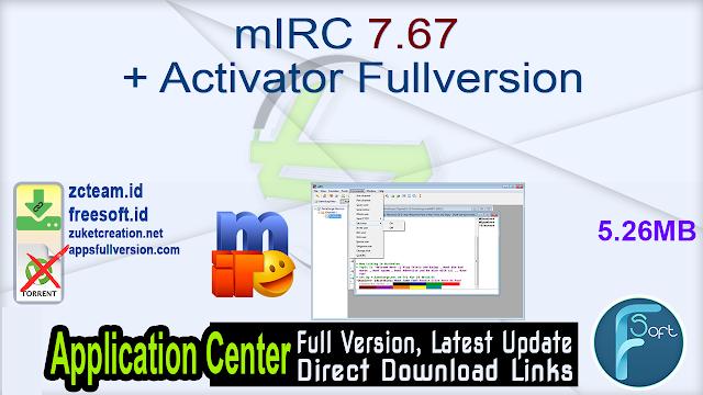 mIRC 7.67 + Activator Fullversion