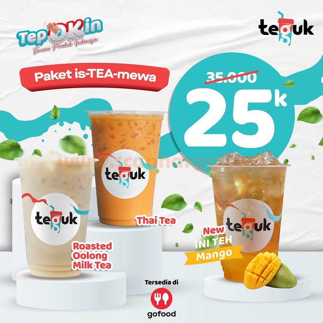 Promo TEGUK Paket is-TEA-mewa Cuma Rp 25.000 Aja* via GOFOOD