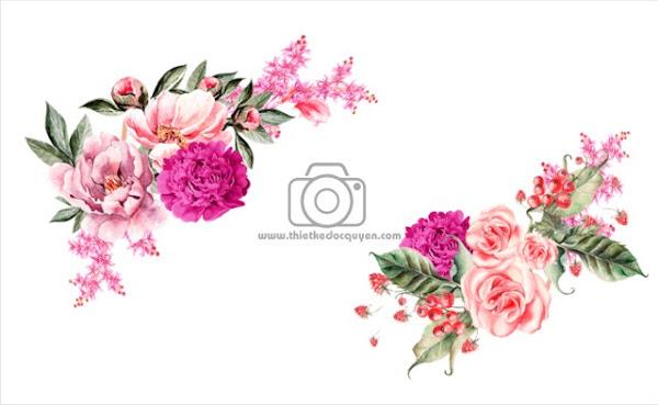 Bông hoa vector 3d