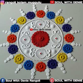Small Rangoli Designs With Dots