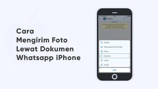 cara mengirim foto lewat dokumen di iphone