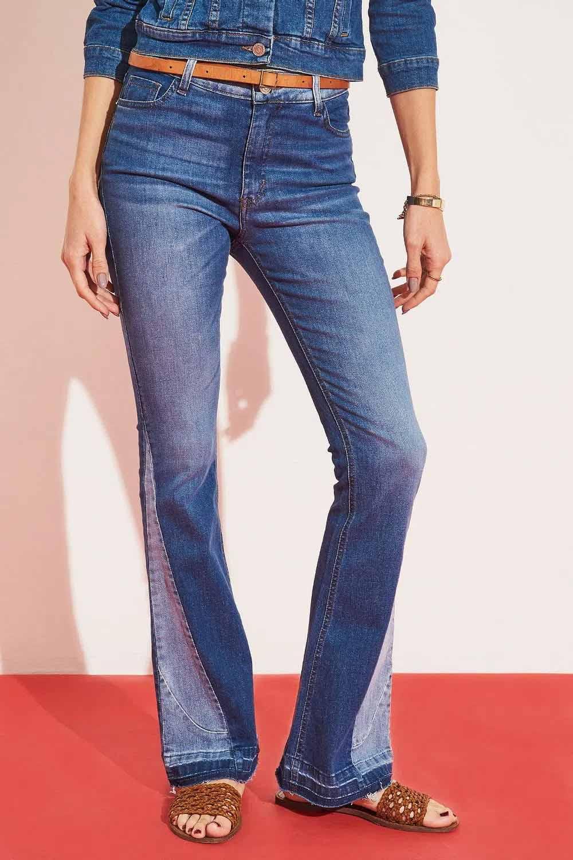 jean oxford con agregados en botamanga moda verano 2022 denim