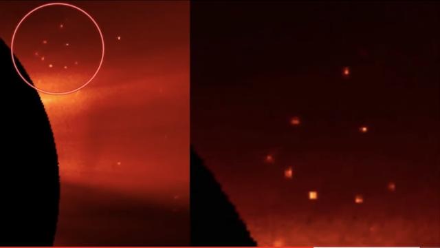 UFO triangle at the Sun.