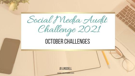 The Social Media Audit Challenge 2021: October Challenges (Pinterest)