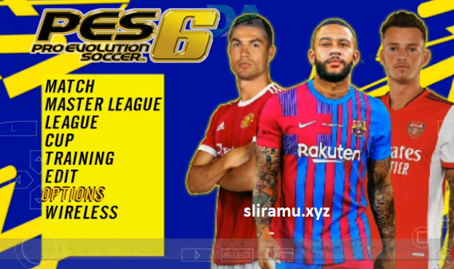 PES 6 Mod PES 2022 PPSSPP HD Graphics Update Kits & Transfer 21/22