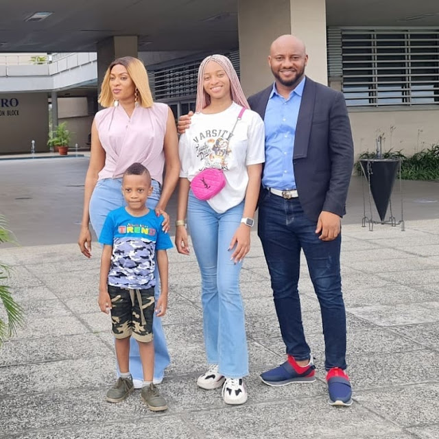 Yul edochie drops his daughter off as she begins her University education (photos)