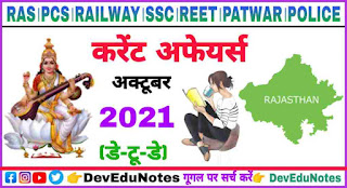 Rajasthan Current Affairs 2021