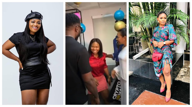 #BBNaija Tega Spotted with other Housemates days after she deactivated her Instagram due to Mental stress (Video)