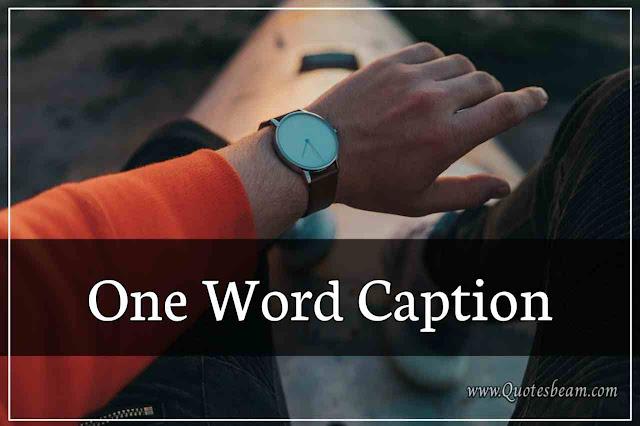 One Word Caption