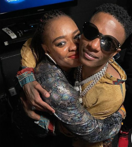 Emotional Moment as Wizkid reunites with his Elder sister in the US after 2 yrs of seeing each other