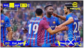 Download eFootball PES 2022 PPSSPP Barcelona Edition Best Graphics Fix Cemera PS5 & Full Transfer