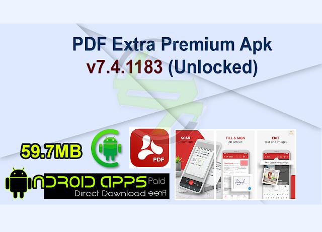 PDF Extra Premium Apk v7.4.1183 (Unlocked)
