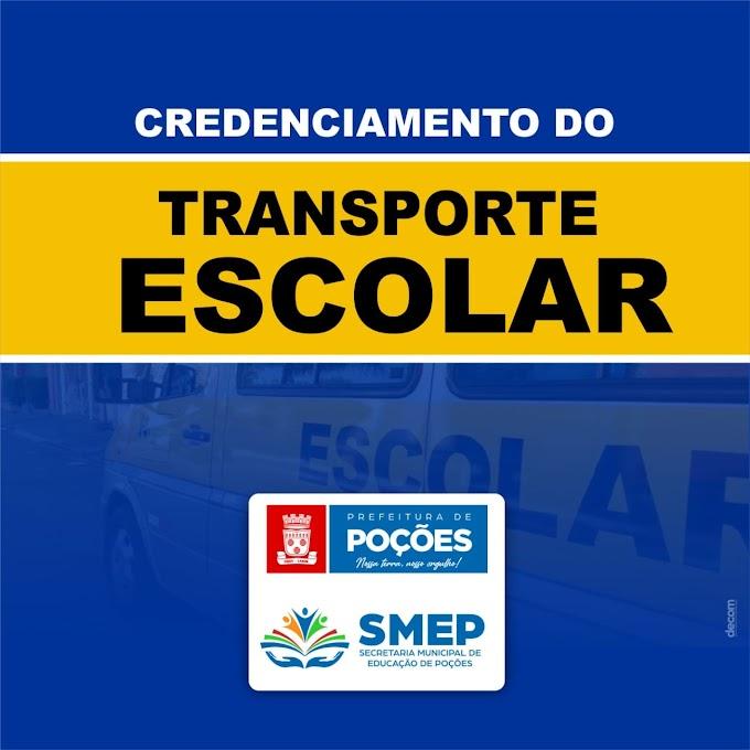 Prefeitura realiza credenciamento do transporte escolar do município de Poções