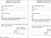 Surat Pernyataan Orang tua, Pemberian Imunisasi Campak dan Pemberian Vaksin Covid-19