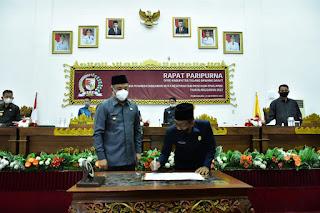 DPRD Tubaba Rapat Paripurna Penandatanganan MoU APBD Th. 2022