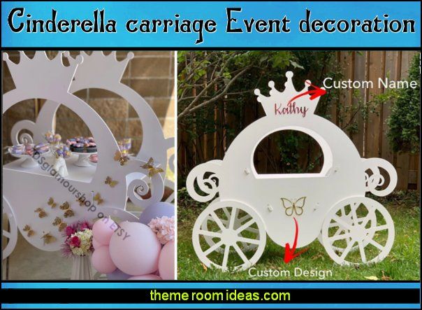 Cinderella carriage Event decoration cinderella party decoration carriage party prop