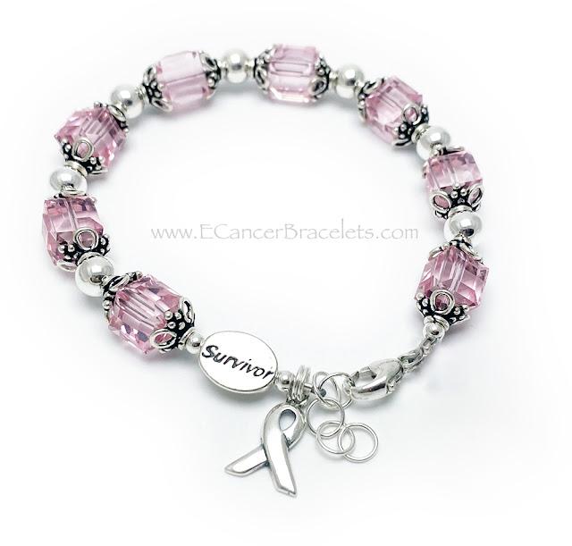 Pink Ribbon Bracelet for Breast Cancer Awareness