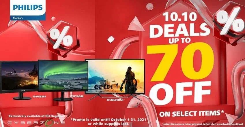 Philips Monitors on Sale at SM Megamall's Cyber Month Gadget Sale 2021